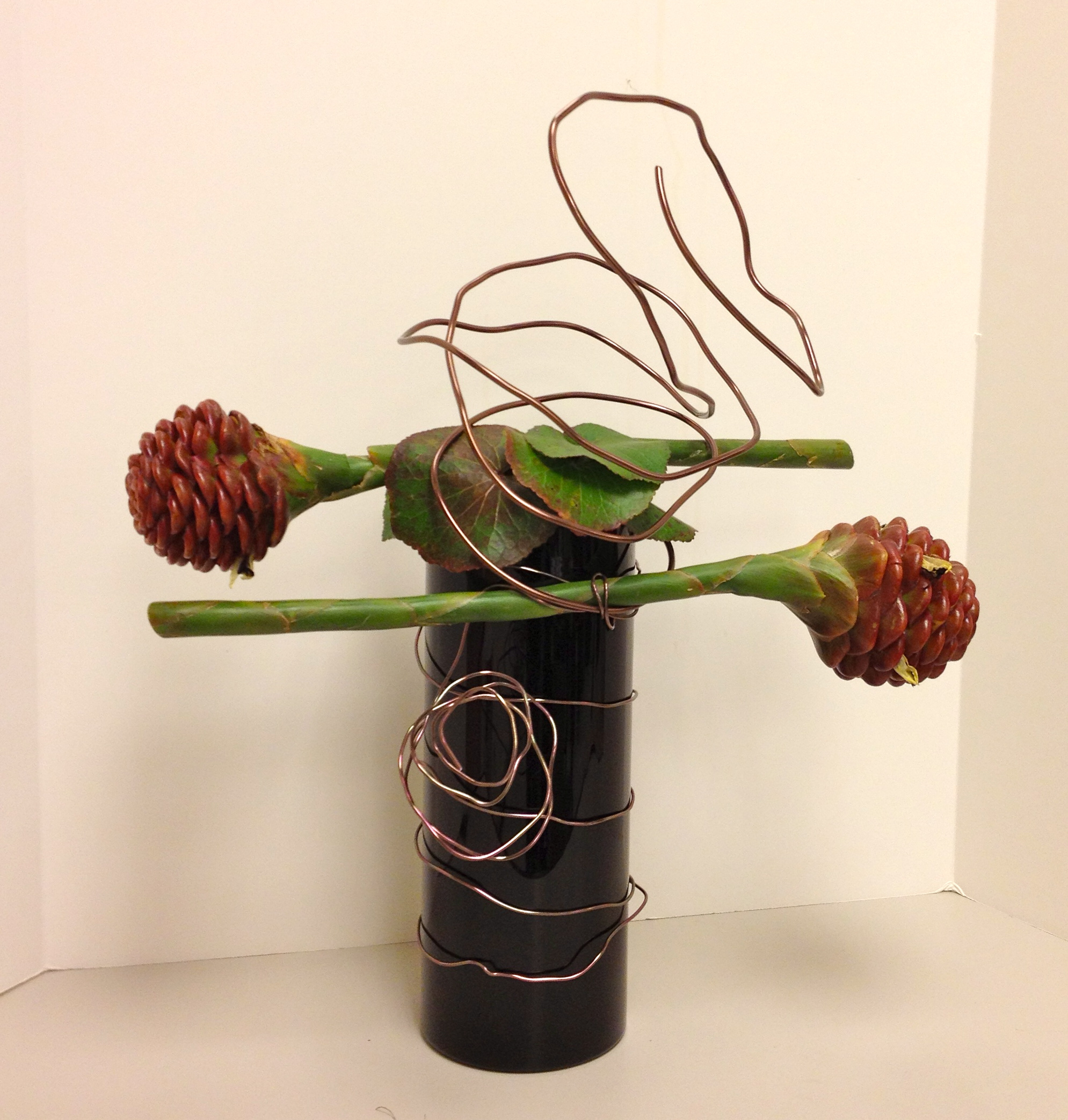 Floral Art Line Design : Modern flower arranging roots to blooms