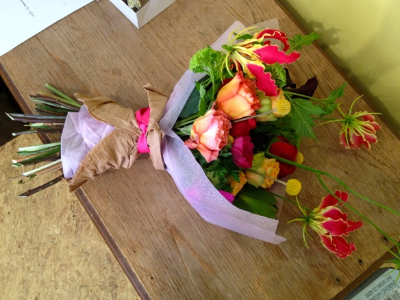 bouquet created by peicha chang of falls flowers