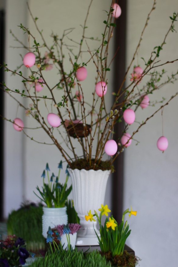 Easter Tree with homemade eggs