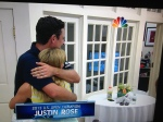 Winner of US Open Justin Rose...finding out he won, my flowers in background.