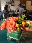 Members Tent Centerpieces using 'Free Spirit' Roses, grown sustainably