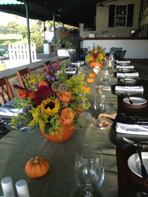 Pumpkin Containers for Fall Luncheon