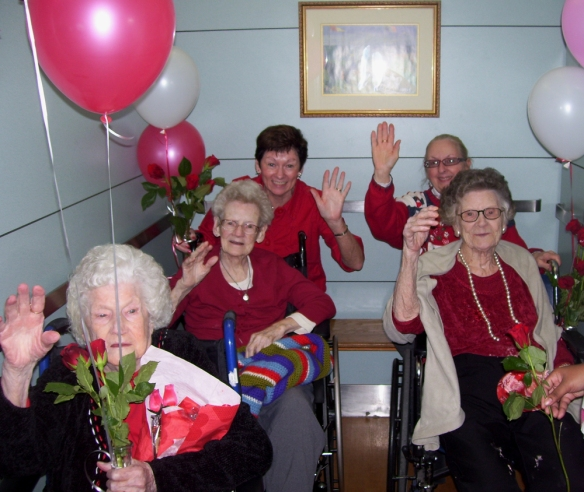 Residents at Holy Family HOme
