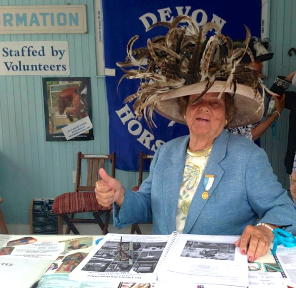 Ms. Betty Moran at Information booth, one of the many volunteers