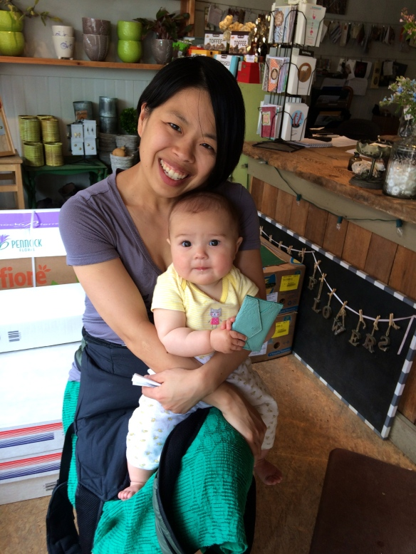 Peicha and her lovely daughter Naima get the positive vibes going!